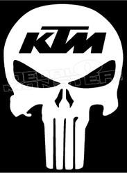 KTM Punisher Skull Decal Sticker