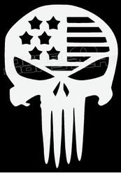 USA Stars and Stripes Punisher Skull Decal Sticker