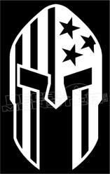 Stars and Stripes Spartan Helmet USA Decal Sticker