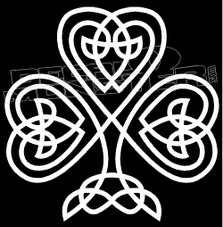 Celtic Shamrock Cross Decal Sticker