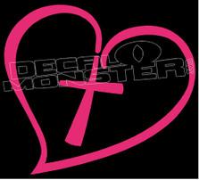 Christian Love Heart Cross Decal Sticker