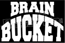 Brain Bucket Motorcycle Decal Sticker
