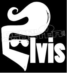 Elvis Hair Decal Sticker