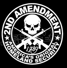 2nd Amendment 1 Americas Security Decal Sticker