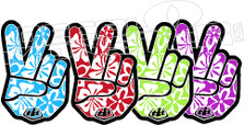 Aloha Peace Troy Lee Designs 8 Decal Sticker
