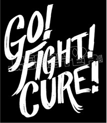 Go Fight Cure Cancer Awareness Decal Sticker