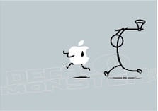 Apple Mac Hatchet Man Decal Sticker