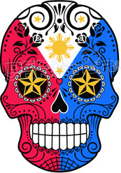 Sugar Skull Philippines Decal Sticker