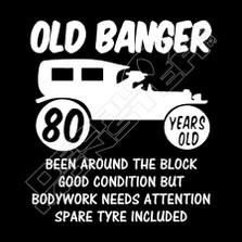 Old Banger Funny Decal Sticker