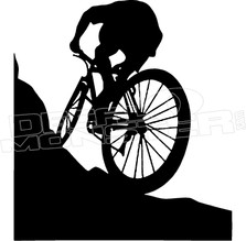 Mountain Biker Climb Decal Sticker