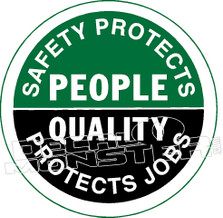 Safety Protects People Decal Sticker