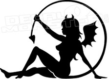 Naughty Devil Girl Tail Decal Sticker