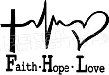 Christianity Faith Hope Love Religious Decal Sticker