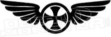 Iron Cross Wings Decal Sticker
