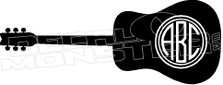Guitar Silhouette 1 Your Lettering Decal Sticker