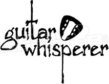 Guitar Whisperer Decal Sticker