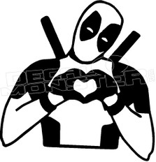 Deadpool Love Decal Sticker