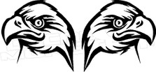 Mirrored Eagle Decal Sticker
