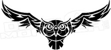 Flying Owl Vector Tribal Decal Sticker