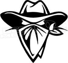 Badass Cowboy 1 Outlaw Western Decal Sticker