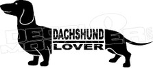 Dacshund Lover 1 Decal Sticker
