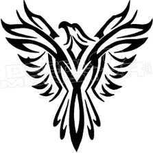 Phoenix Eagle Silhouette 1 Decal Sticker