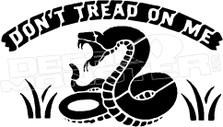 Don't Tread On Me Rattlesnake American Revolution Flag 1775 Decal Sticker