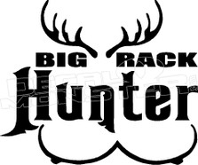 Big Rack Deer Hunter Decal Sticker