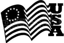 USA Flag Decal Sticker