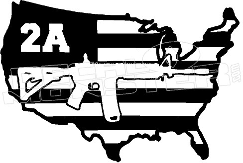 American Flag Vinyl Stickers Truck Accessories 2nd Second Amendment Home Protection Warning Stickers Decal for Car Truck Boat Home