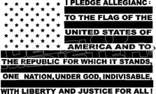America Liberty & Justice For All Flag Decal Sticker