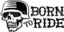 Motorcycle Born to Ride 1 Decal Sticker