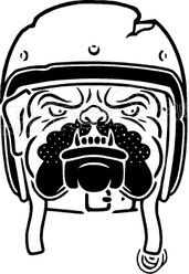 Motorcycle Bulldog Decal Sticker