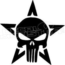 Punisher Star Decal Sticker