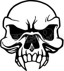 Cannibal Skull Decal Sticker