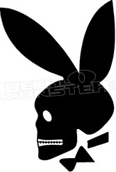 Playboy Bunny Skull 1 Decal Sticker