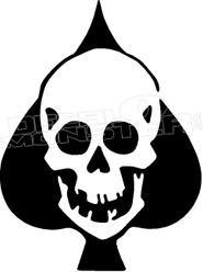 Ace of Skulls 1 Decal Sticker