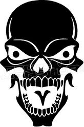 Crazy Skull 1 Decal Sticker