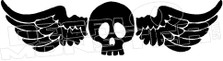 Winged Skull 2 Decal Sticker