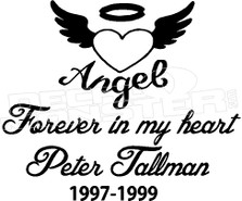 Angel In Loving Memory Of... 1 Memorial Decal Sticker