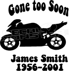 Motorcycle In Loving Memory Of... 8 Memorial decal Sticker