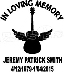 Guitarist In Loving Memory Of... 1 Memorial decal Sticker dm