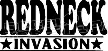 Redneck Invasion Decal Sticker