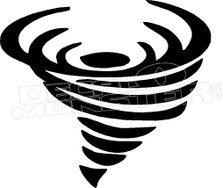 Tornado Silhouette Decal Sticker