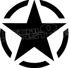 Army Star and Circle Decal Sticker