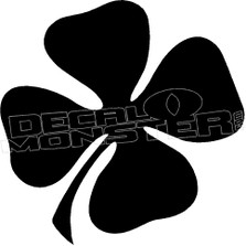4 Leafed Clover Irish Silhouette Decal Sticker