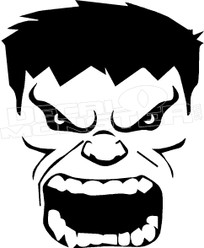 Angry Hulk 1 Decal Sticker