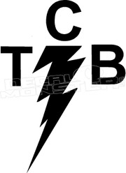 Taking Care of Business TCB Lighting Bolt Elvis Decal Sticker