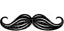 Moustache Silhouette 1 Decal Sticker
