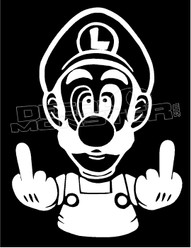 Fuck Off Luigi Decal Sticker